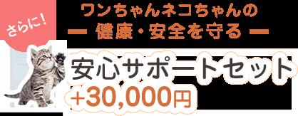 さらに!ワンちゃんネコちゃんの健康・安全を守る 安心サポートセット+30,000円